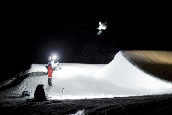 ash guthrie night snowboarding