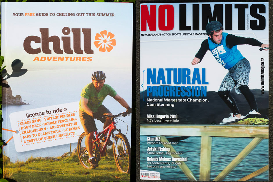 covers of multiple action sports magazines