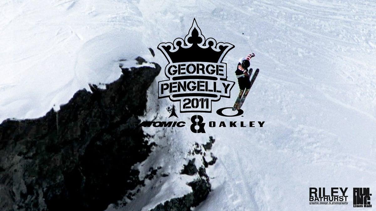 skiing big mountain cliff drop