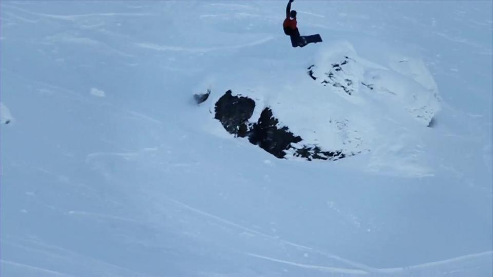 snowboarding method cliff drop