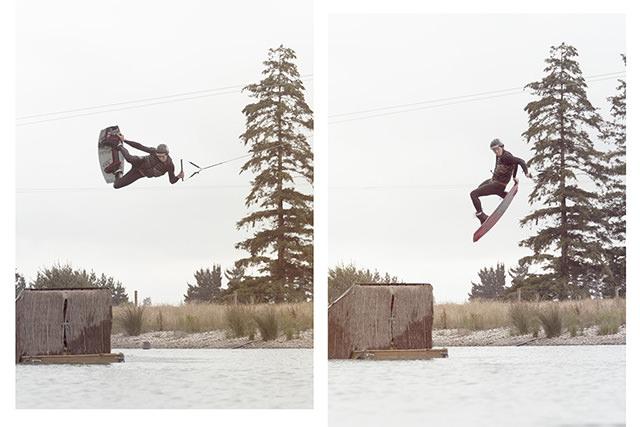 josh oconell double wakeboard image