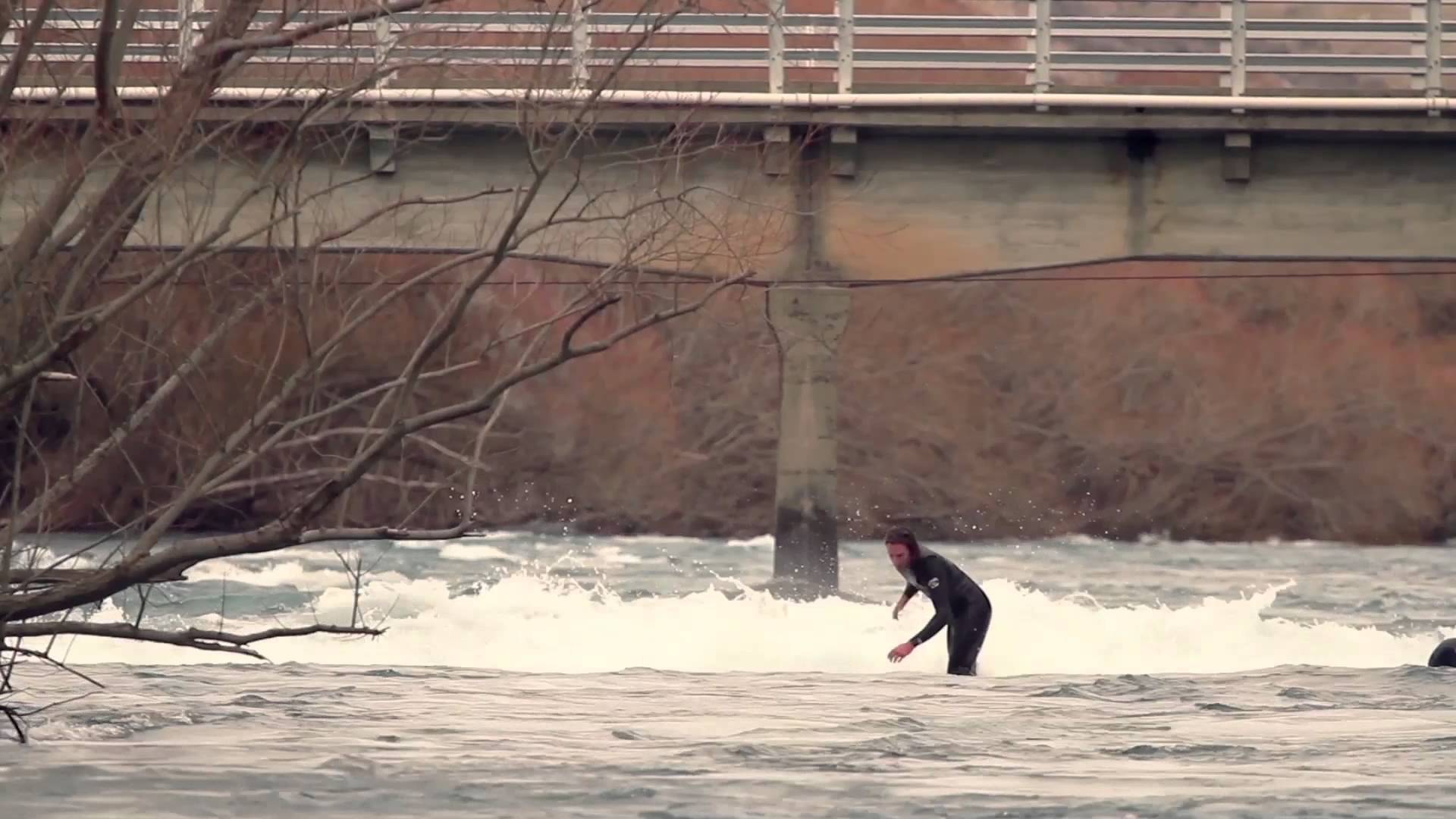 river wave surfing
