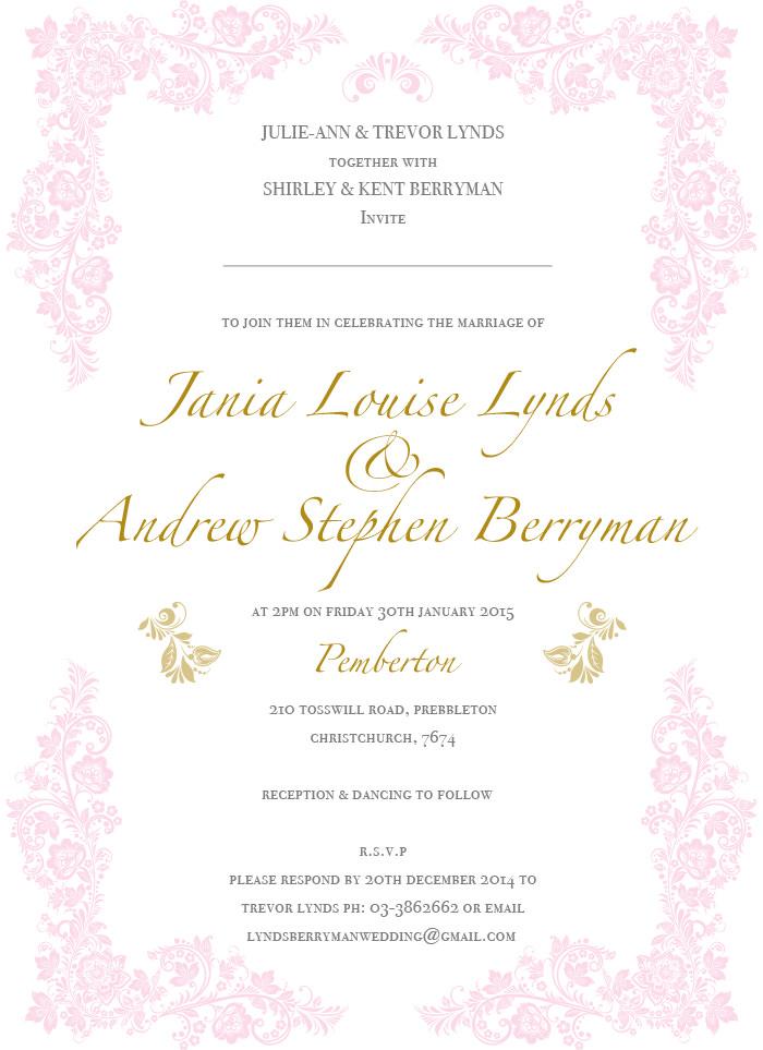 jania andrew wedding invites