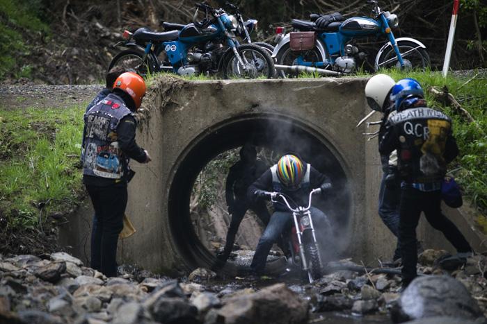 quake city rumblers moped burn out