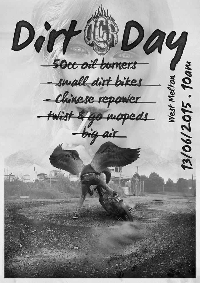quake city rumblers dirt day poster