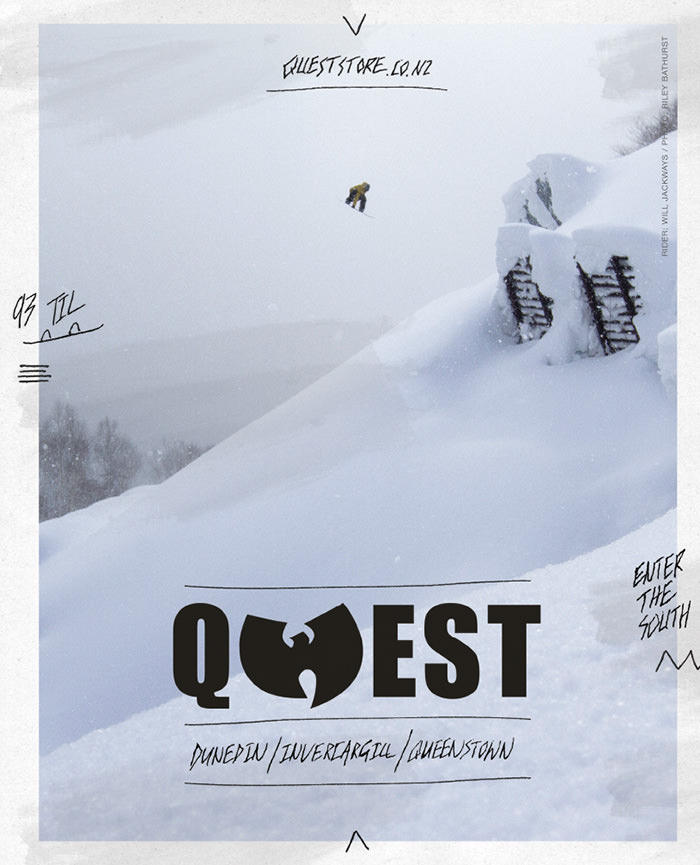 quest store snowboard ad
