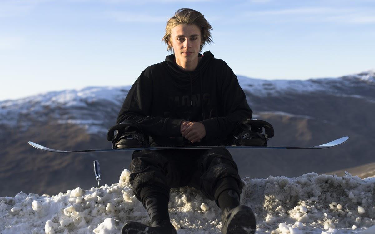 snowboarding portrait