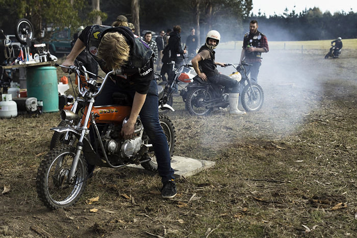 qcr mopeds at dirt day
