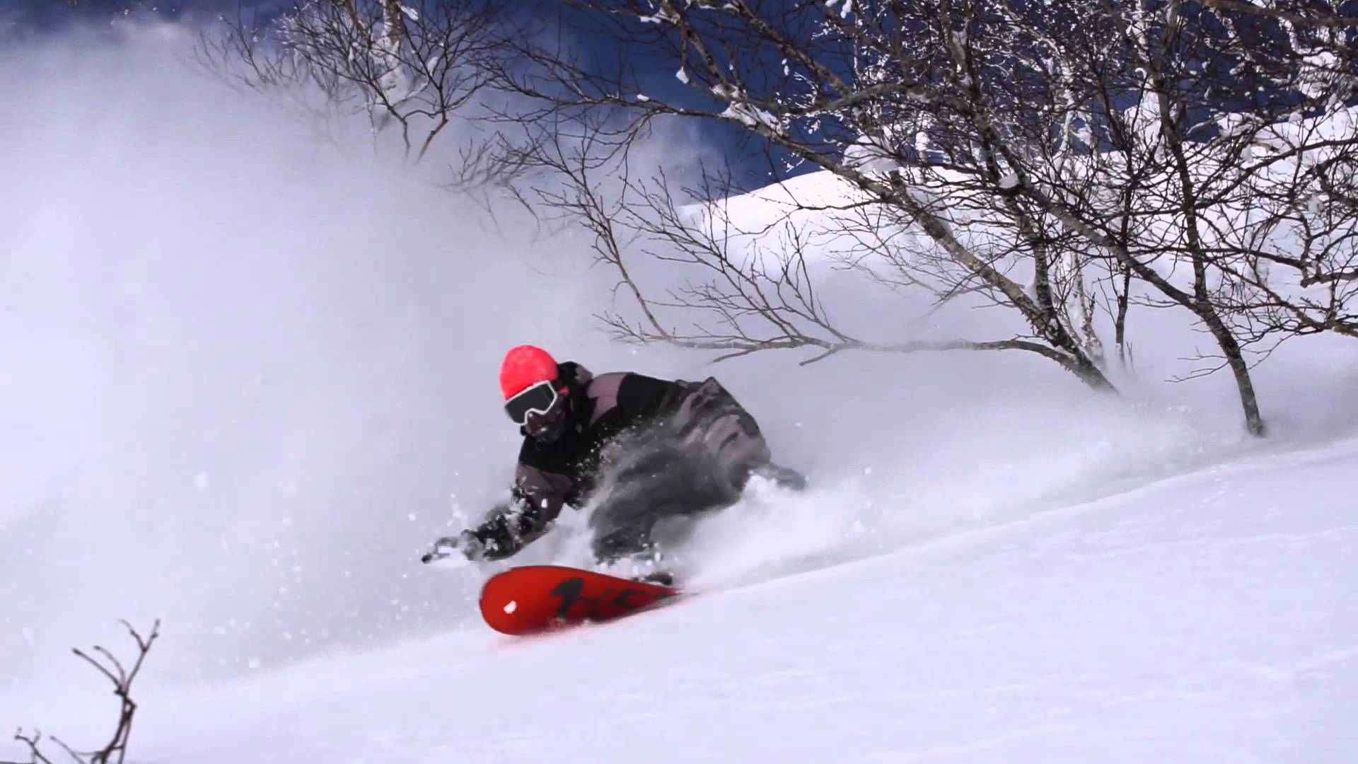 snowboarding Japanese powder