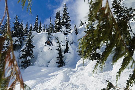 skier pillow line