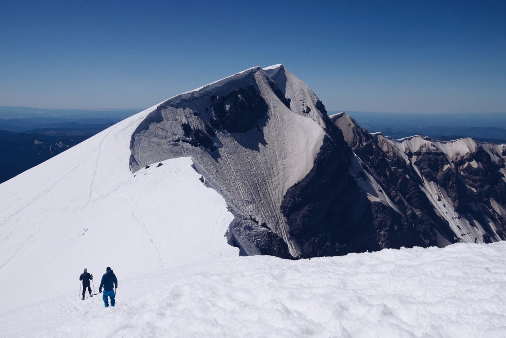 snowboarders at the summit of mt st helens in washington state Cascadia