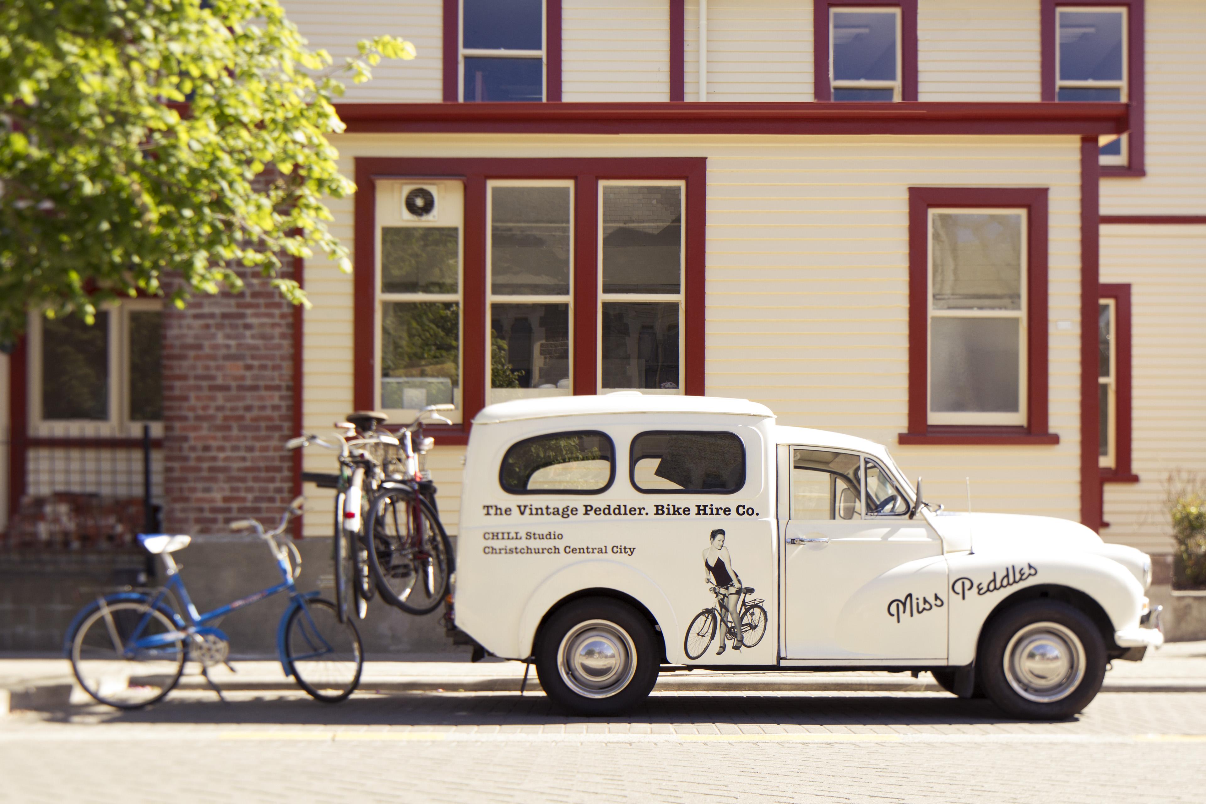 miss peddles the vintage peddler bike mobile