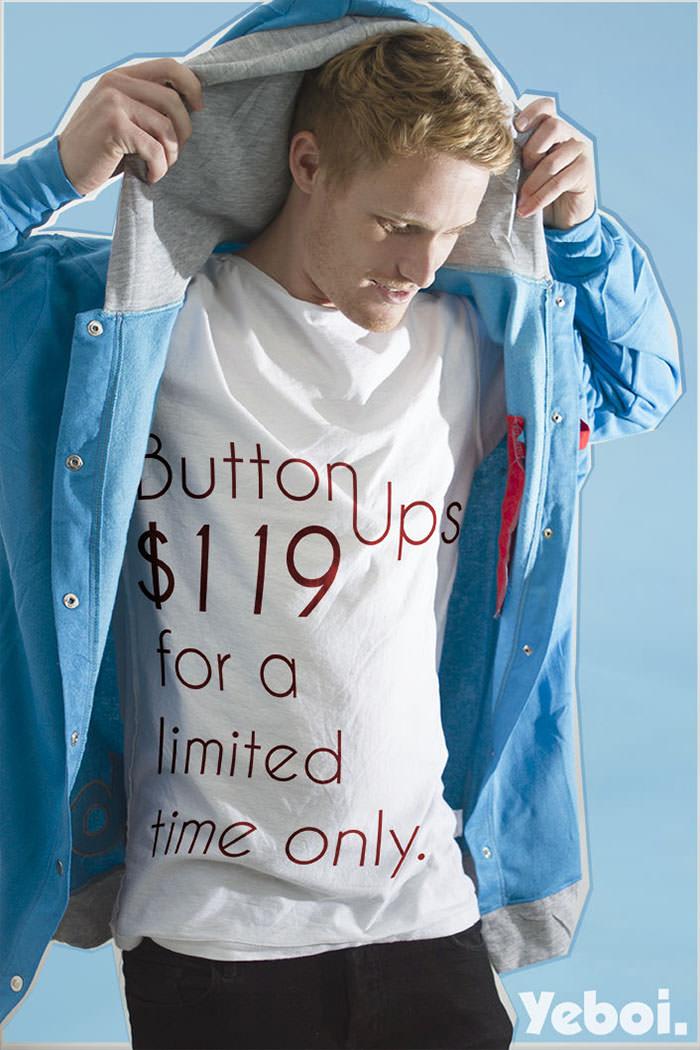 yeboi button ups