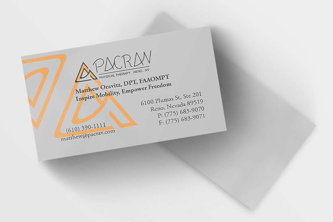 pacrav business cards front and back