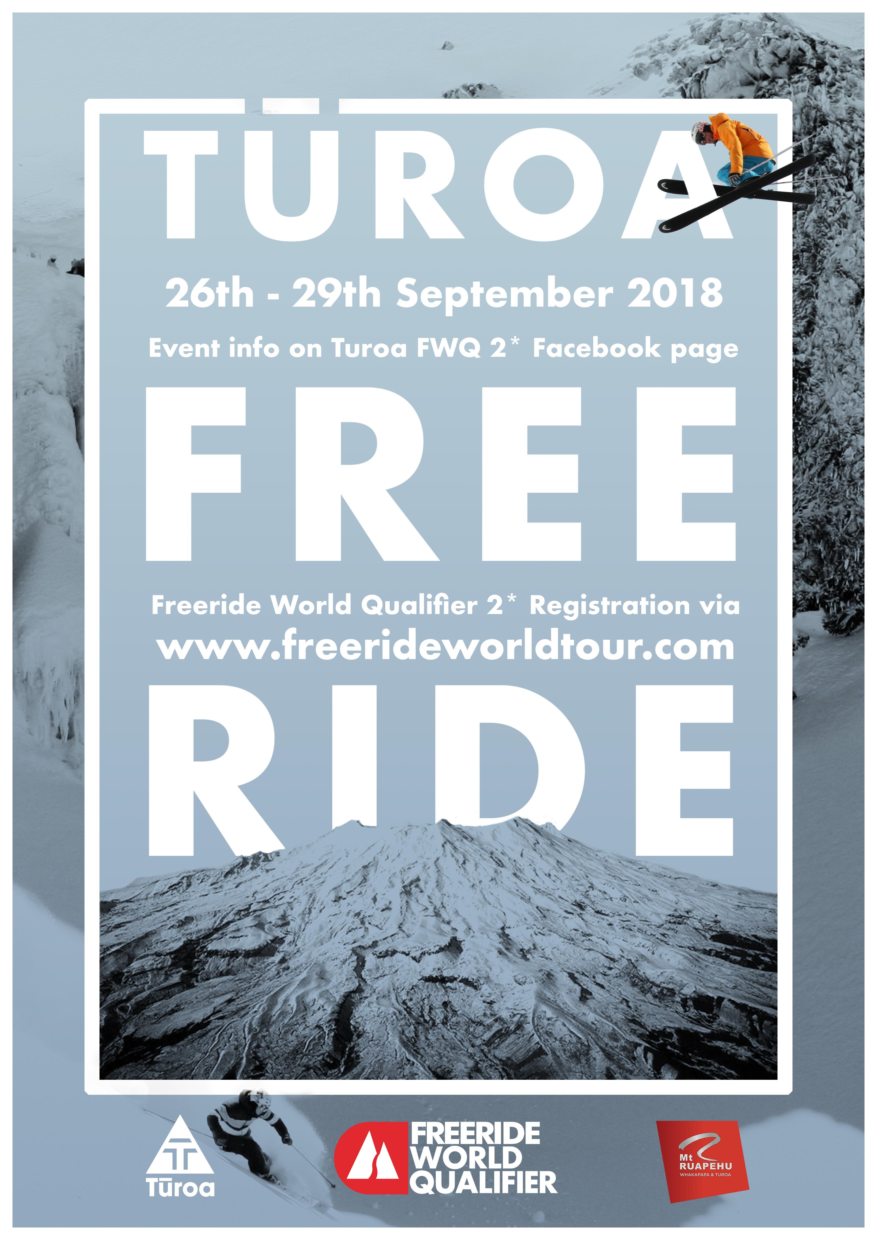 turoa free ride ski poster event