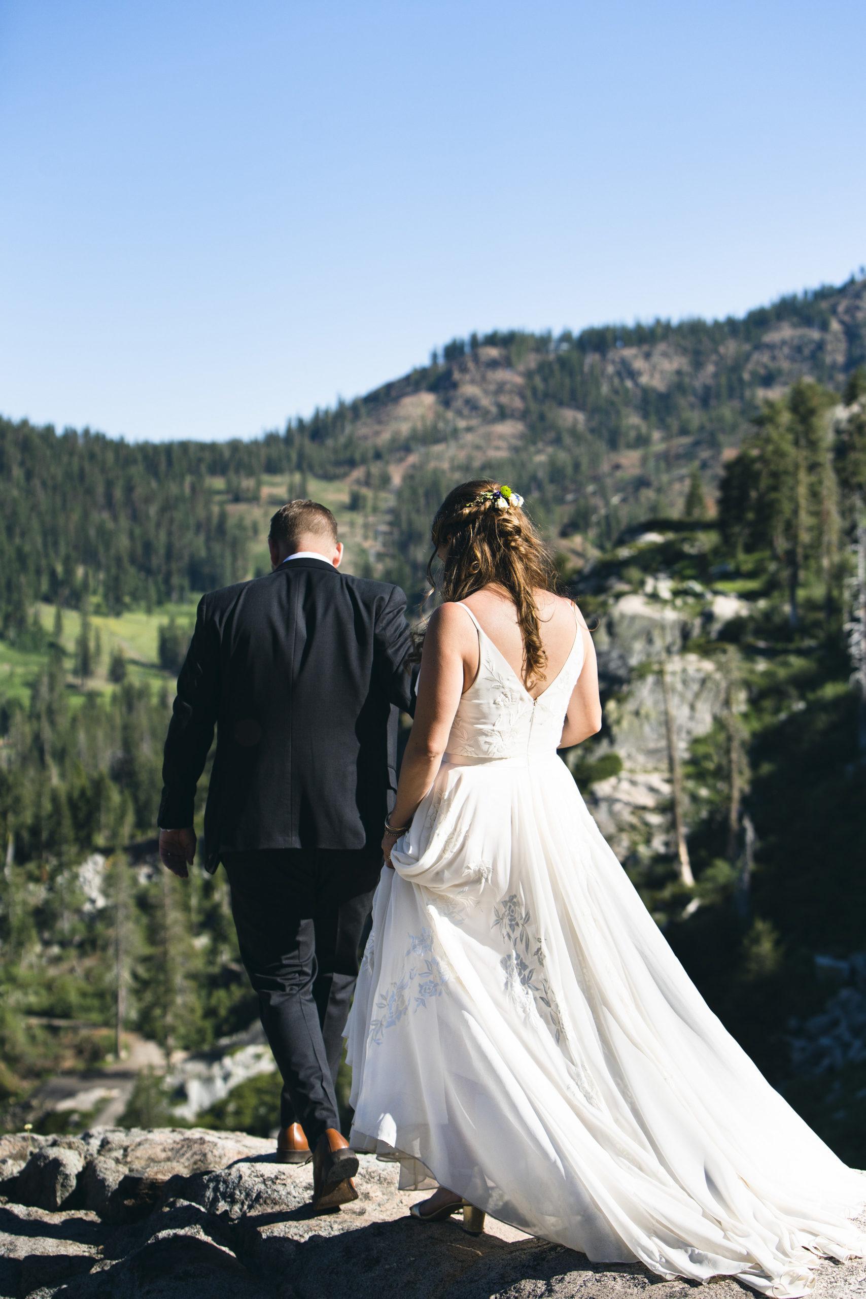 away wedding photo