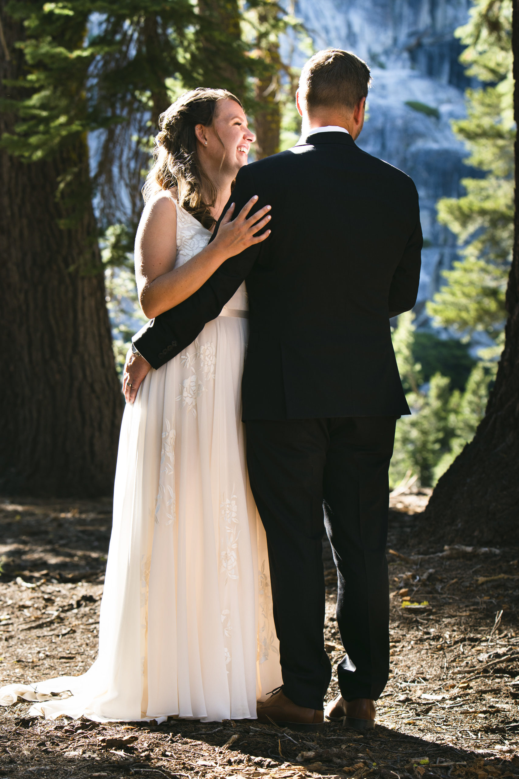 shoulder wedding photo